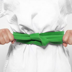 green karate belt